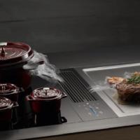 extracción integrada en la encima en cocinas de diseño