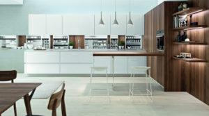 Tablero marino para el diseño de cocinas modernas