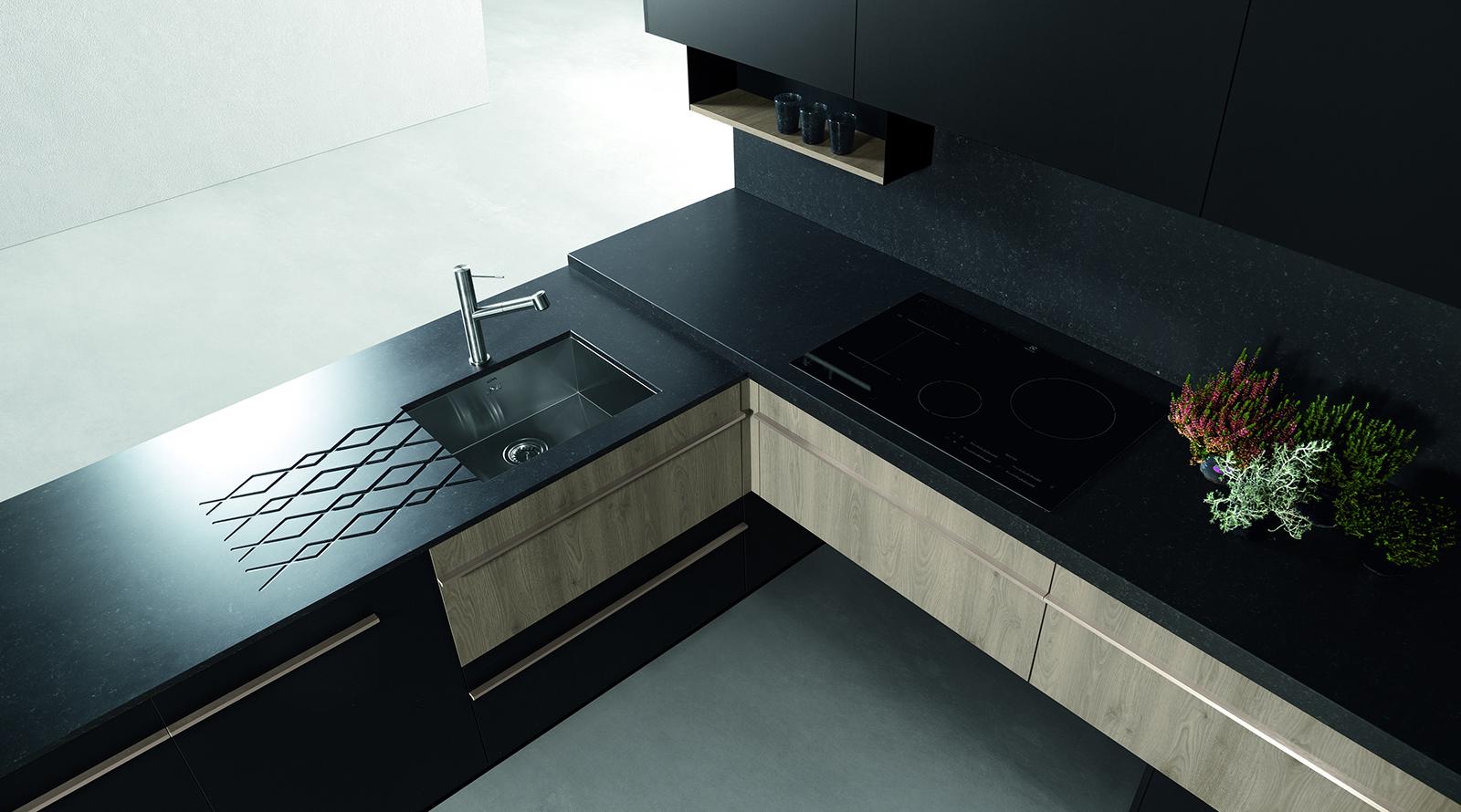 Muebles cocina de diseño en negro